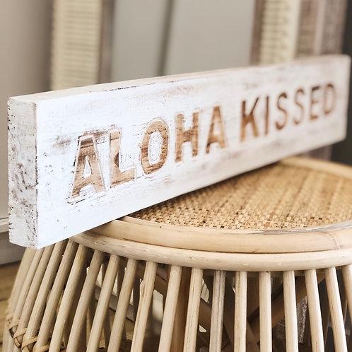 Aloha Kissed Block Art