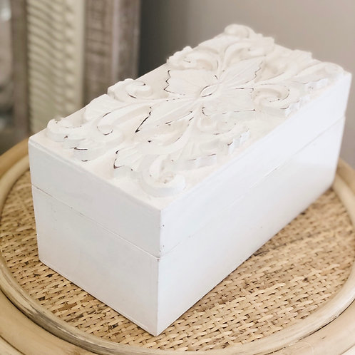 Carved Top Box