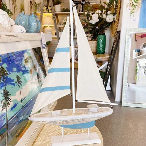 Blue Stripe Sail Boat