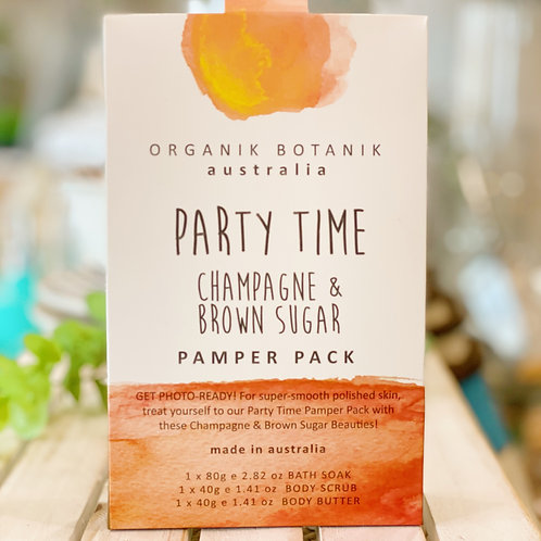 Party Time - Champagne and Brown Sugar Pamper Pack
