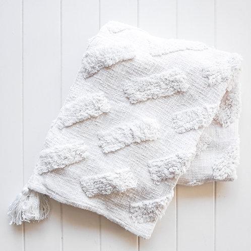 Bondi White Throw Blanket