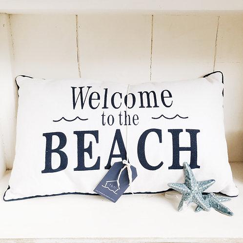 Welcome To The Beach Cushion