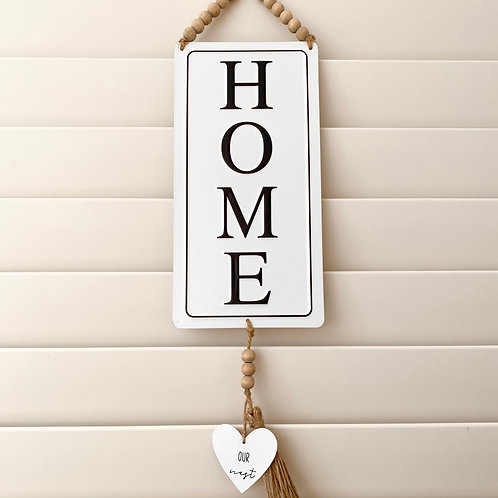 Home Hanging Quote Sign
