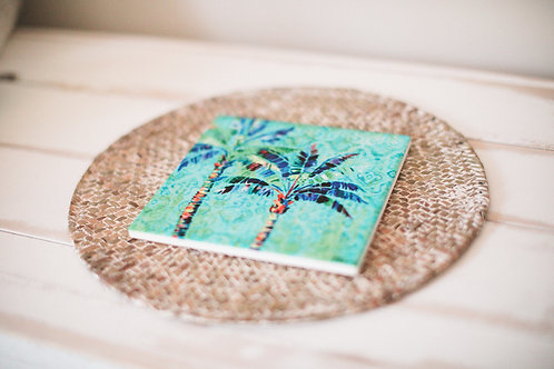 Bright Palm Trivet