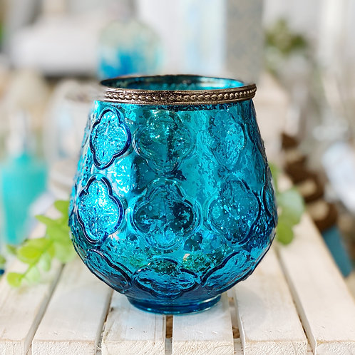 Azure Large Glass Votive
