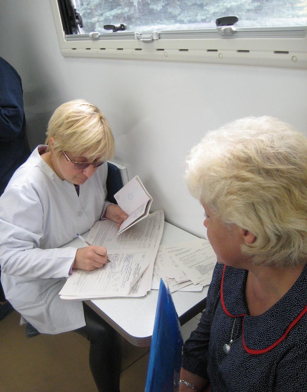 Галина Евдокимова у врача