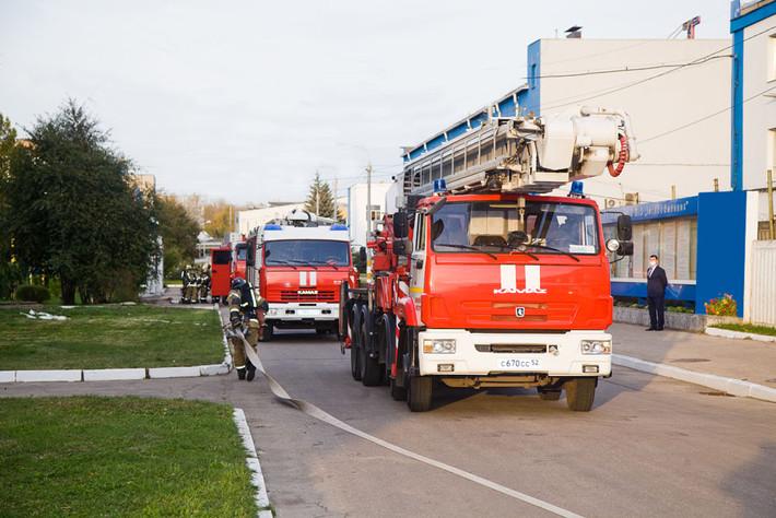 Тренировочные пожарно-тактические учения на «Теплообменнике»