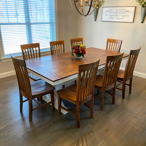 Oak Trestle Leg Table