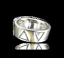 Platinum,18kt gold, trilliant cut diamonds