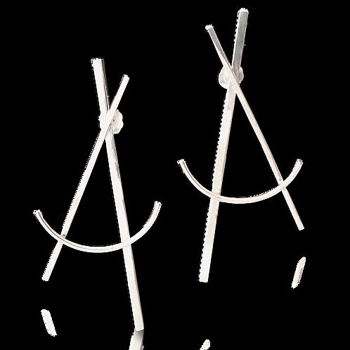 """""""A line"""" earrings"""