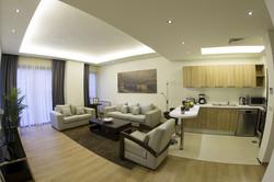 Two Bedroom Apartment Salon Area