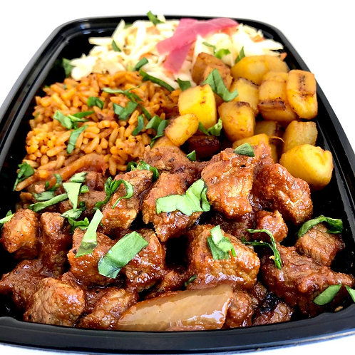 The Buka Platter (Jollof Rice)