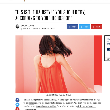 Well+Good: This is the Hairstyle You Should Try, According to Your Horoscope