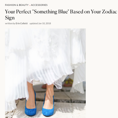 """Brides: Your Perfect """"Something Blue"""" Based on Your Zodiac Sign"""