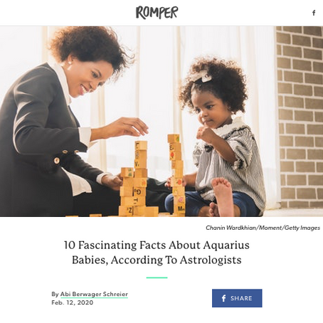 Romper: 10 Fascinating Facts About Aquarius Babies, According To Astrologists