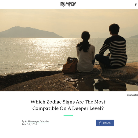 Romper: Which Zodiac Signs Are The Most Compatible On A Deeper Level?