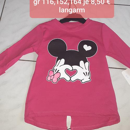 Minnie langarmshirt 116 152