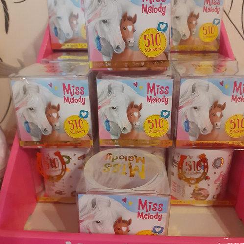 Miss Melody Stickerrollen