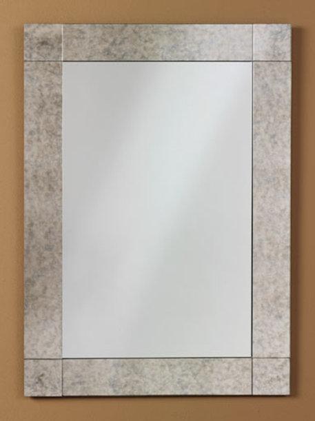 Antique Border Frameless Rectangle Mirror