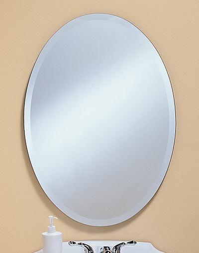 303 304 305 306 307 Oval Frameless Bevel Mirrors