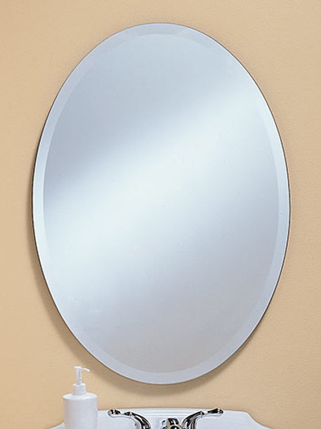 Oval Frameless Bevel Mirror