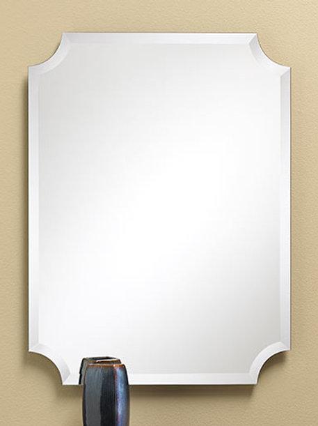 Concave Corner Frameless Bevel Mirror