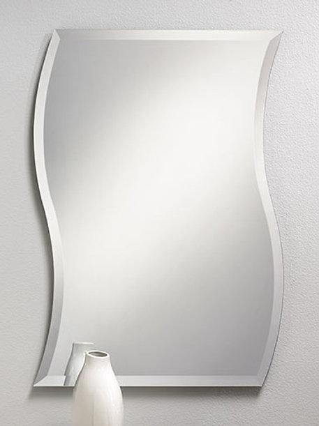 Pattern Frameless Bevel Mirror