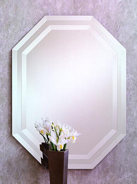 Double Octagon Frameless Bevel Mirror