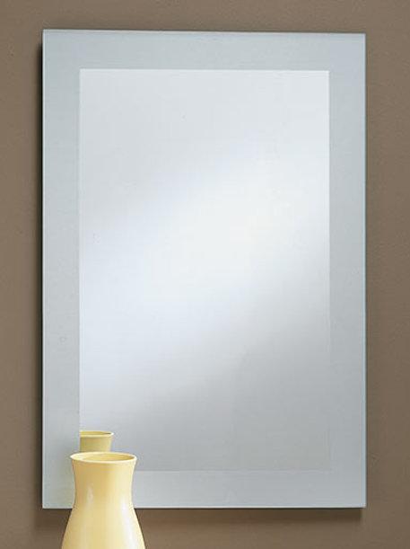 Frosted Border Frameless Rectangle Mirror