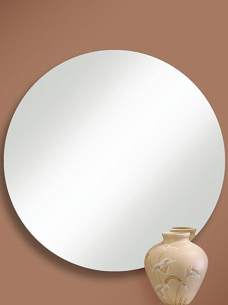 Round Frameless Polished Edge Mirror