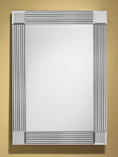 Reeded Mirror Border Frameless Rectangle Mirror