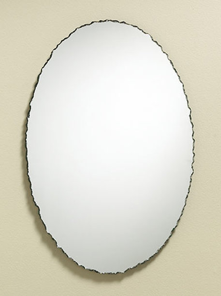 Chisled Edge Oval Frameless Mirror