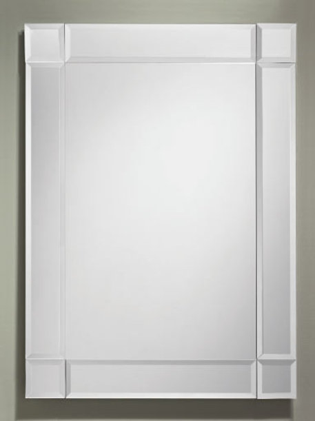 Beveled Border Frameless Rectangle Mirror