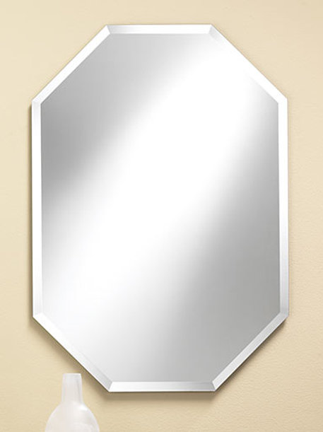 Octagon Frameless Bevel Mirror