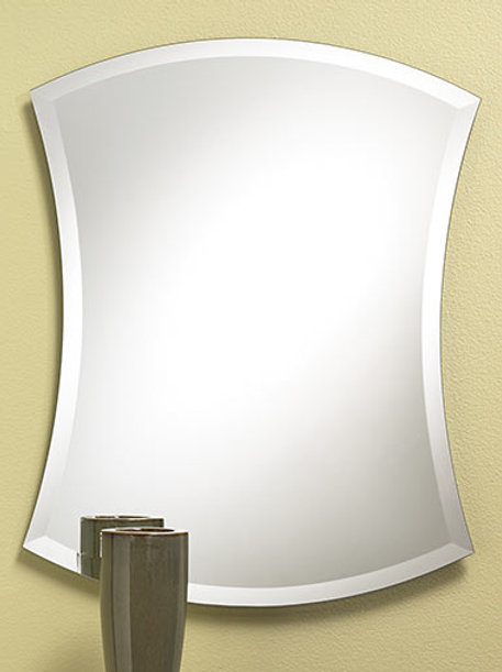 Pattern Frameless Bevel Mirror