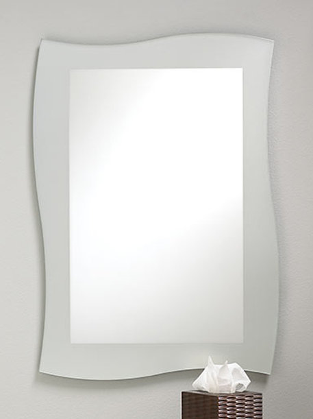 Frosted Border Frameless Mirror