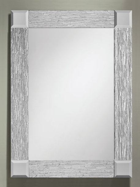 Silver Cotswold Border Frameless Rectangle Mirror