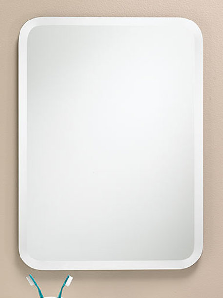 Round Corner Frameless Bevel Mirror