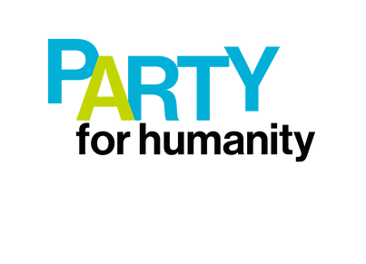 Party for humanity logo text
