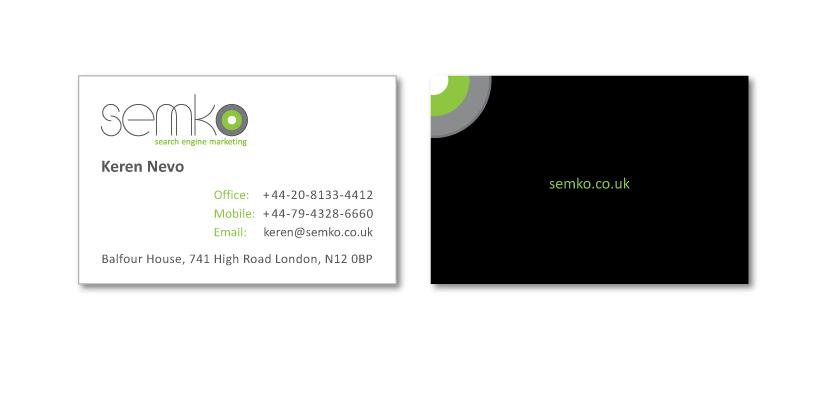 Semko  עיצוב לוגו וכרטיס ביקור