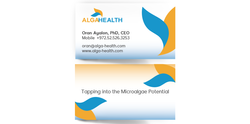 AlgaHealth עיצוב לוגו וכרטיס ביקור