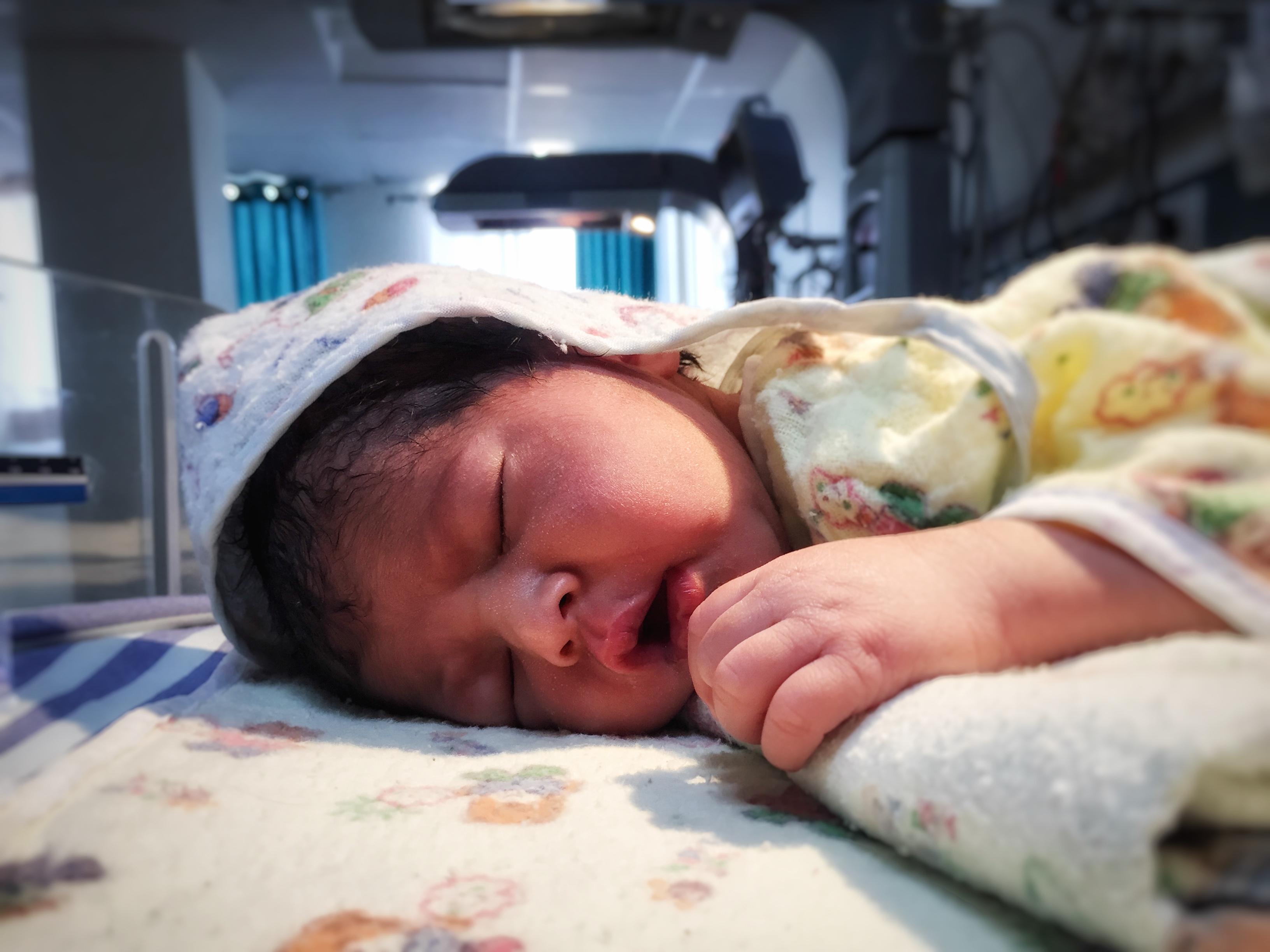 Newborn in nursery