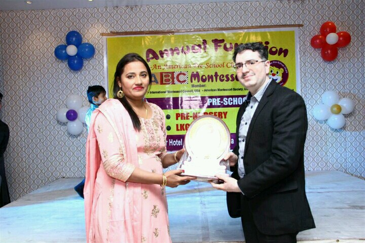 with Principal ABC Montessori school