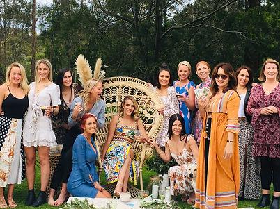 Melbourne tarot reader Julia in a garden hens party