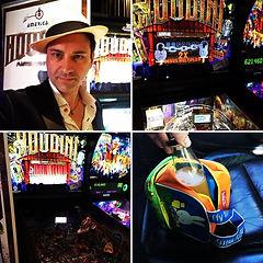 Magician for Houdini Pin Ball machine launch