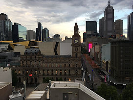 Melbourne skyline for corporate roving magician