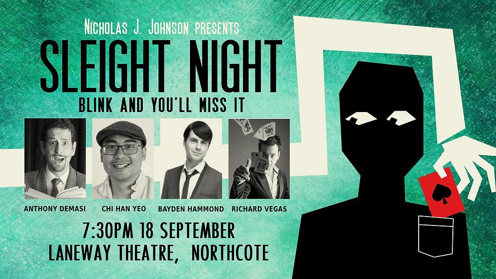 Sleight Night poster for 18 September 2019