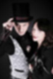 Melbourne magiciand Richard Vegas and Julia Madotti