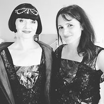 Actor Essie Davis with Melbourne corporate tarot reader and Magician Julia