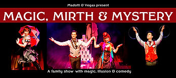 Melbourne magic show banner Magic, Mirth & Mystery